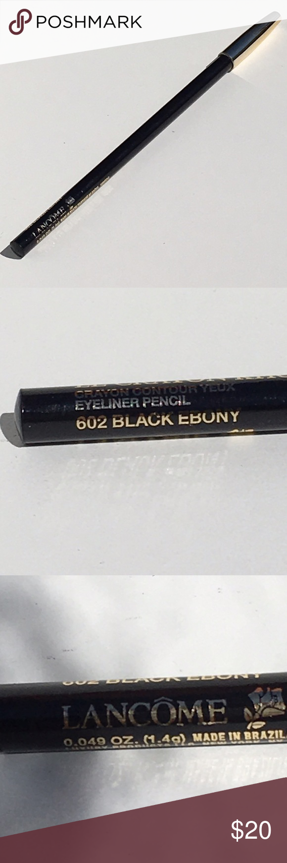 NWT! Lancôme Le Kohl 602 Black Ebony Eye Pencil Boutique
