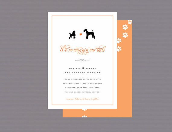 Dog Wedding Invitations: Are You An Absolute Dog Lover And Getting Married? I G