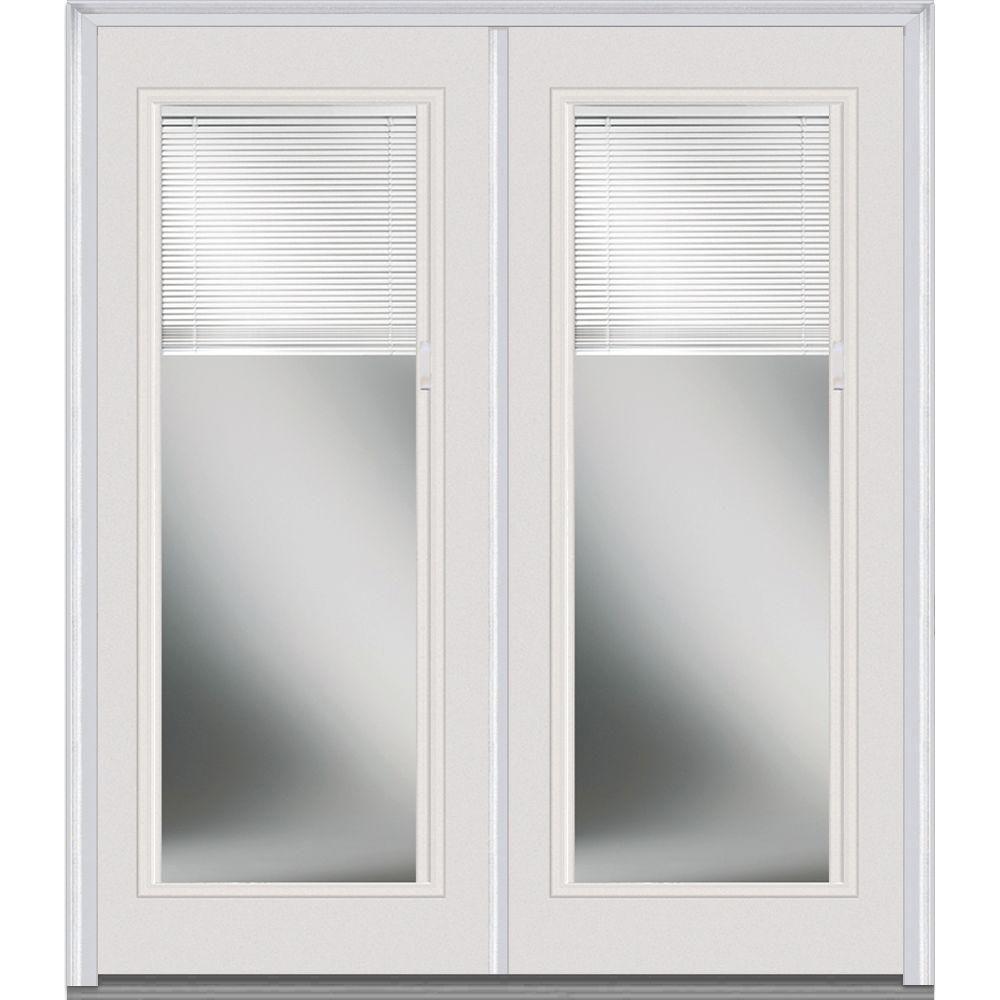 Mmi Door 60 In X 80 In Internal Blinds Left Hand Inswing Full