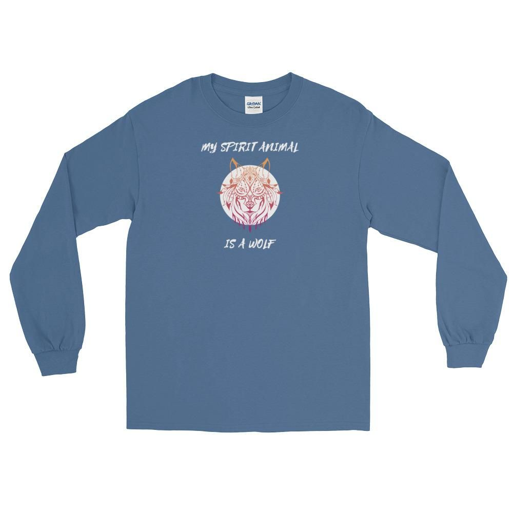 My Spirit Animal Is A Wolf Long Sleeve Shirt in 2019  728c7cca7