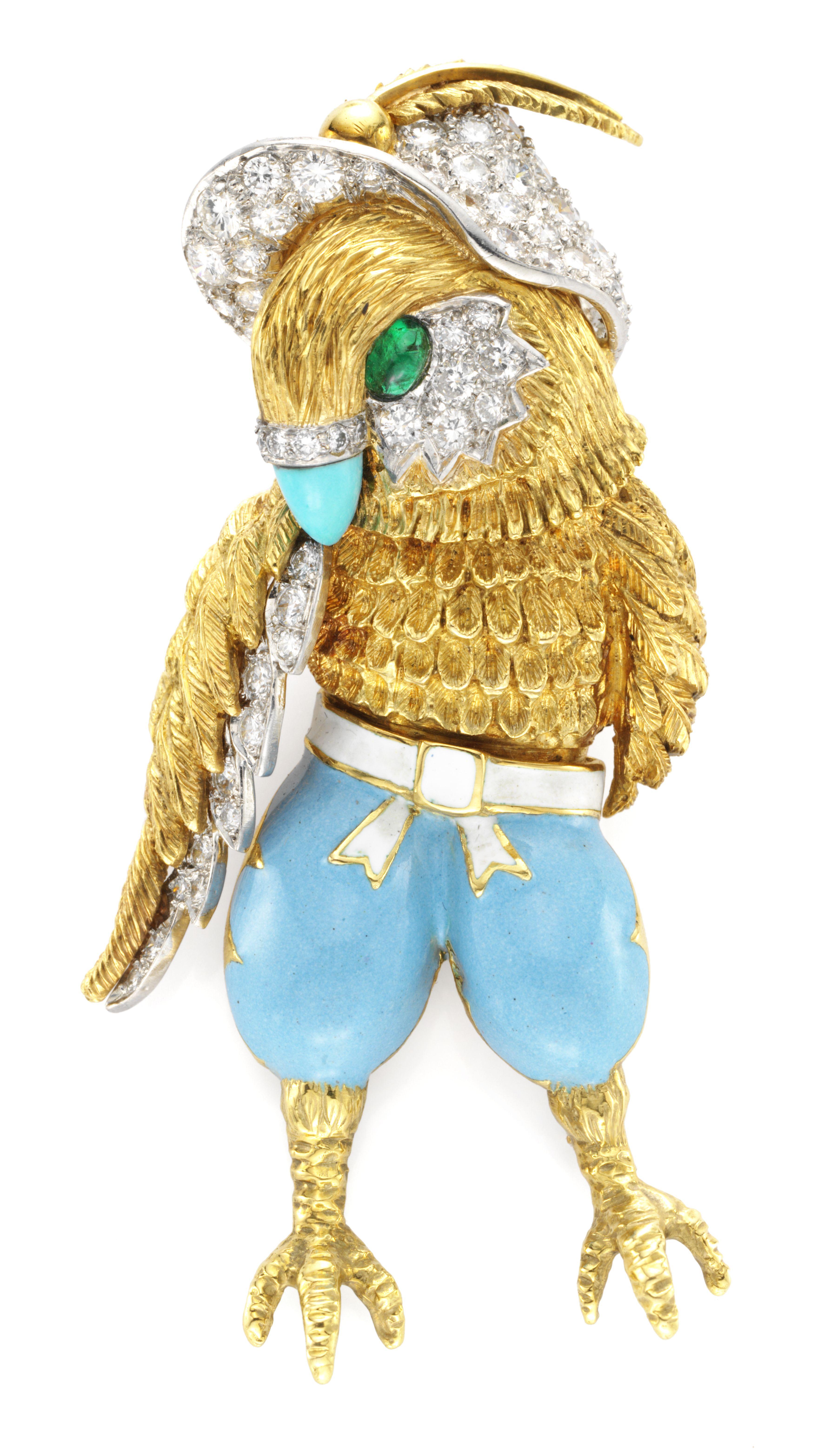 Donald Claflin For Tiffany Amp Co A Gold Enamel Emerald