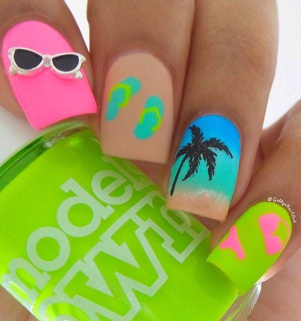 beach wear | NAIL ArT | Pinterest | Diseños de uñas, Uñas de verano ...