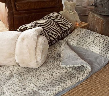 Animal Print Sleeping Bags PotteryBarnKids They Have A Zebra Bag So Snuggly Looking