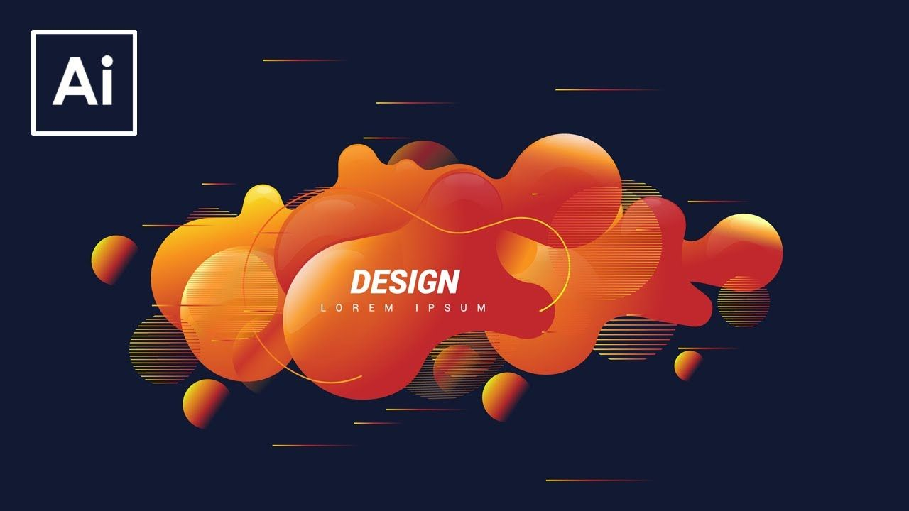 Create Shape Abstract Liquid Adobe Illustrator Tutorial Adobe Illustrator Design Illustrator Tutorials Adobe Illustrator Tutorials
