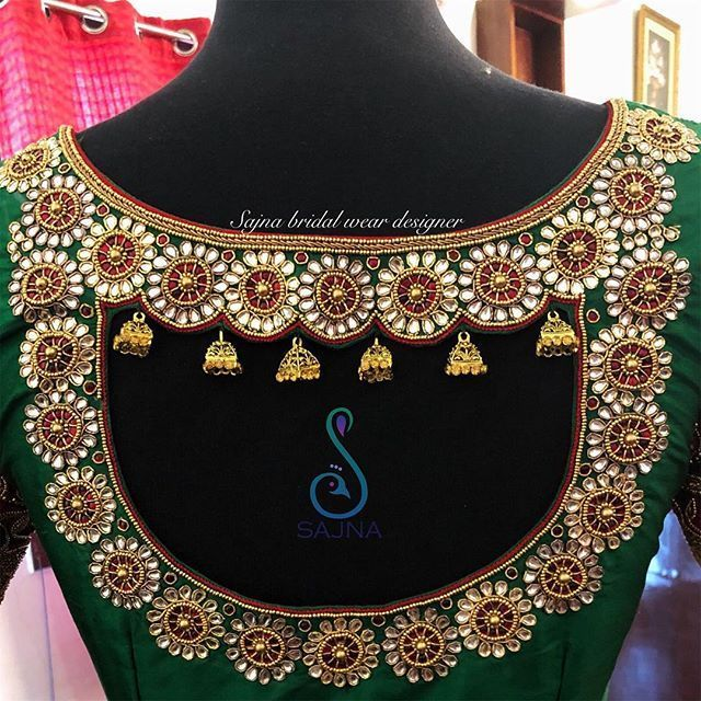 To get your outfit customized visit us at Chennai, Vadapalani or call/msg us at … #blousedesigns