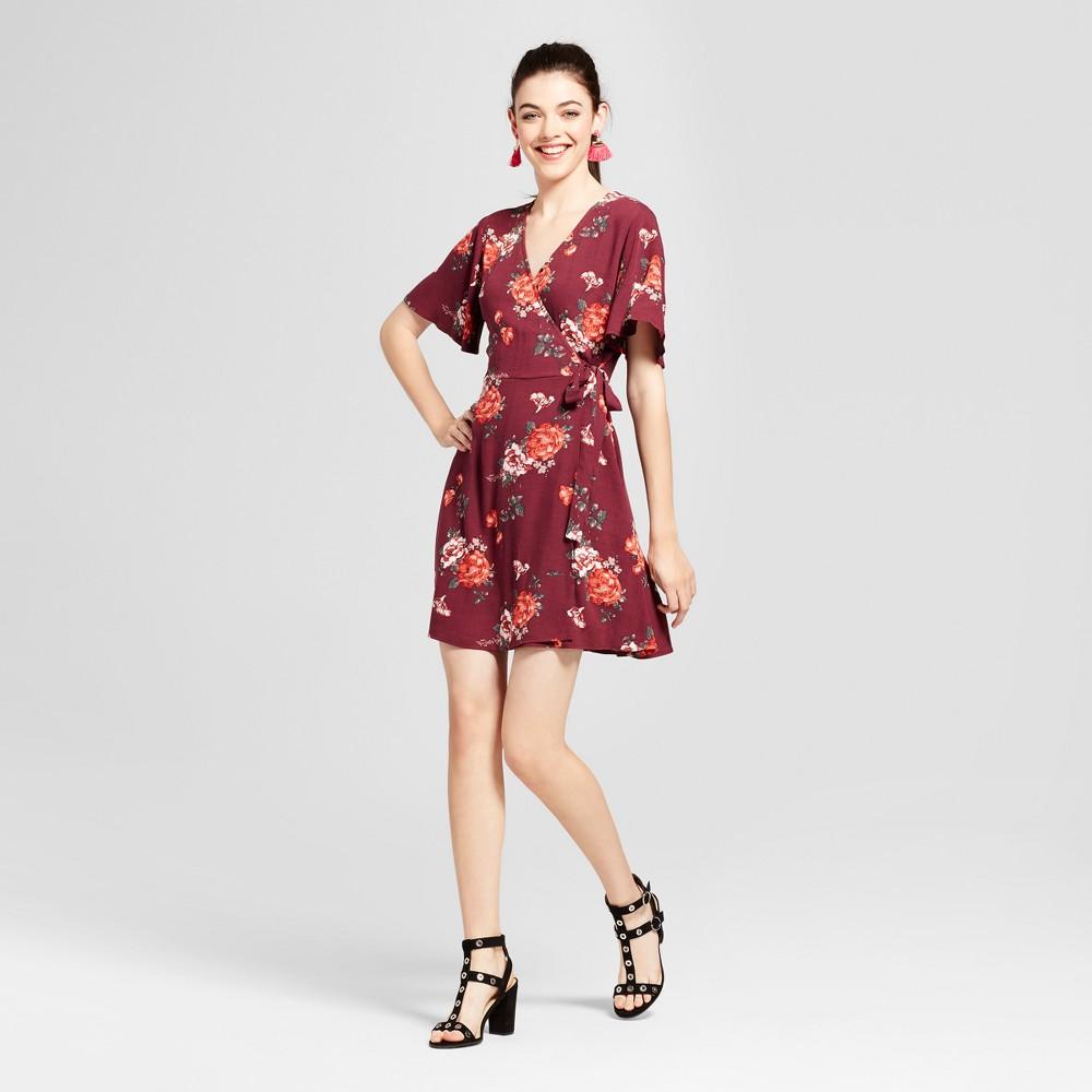 Women S Short Sleeve Surplice Wrap Dress Xhilaration Juniors Wrap Dress Short Wrap Dress Dresses [ 1000 x 1000 Pixel ]