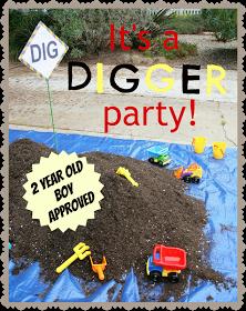 digger boy birthday party theme Kids stuff Pinterest