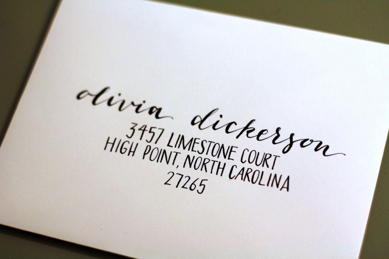 Custom Hand Calligraphy Envelope Addressing | Stationary ...
