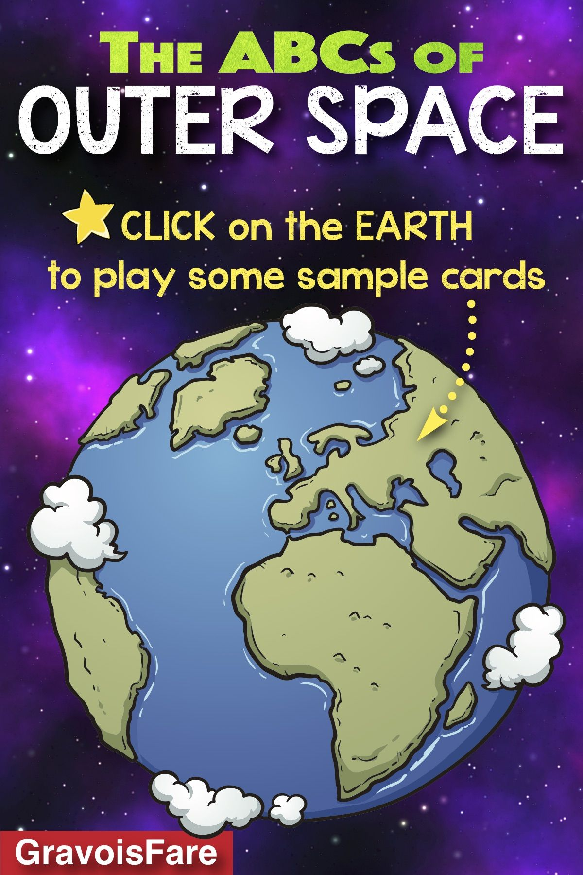 Outer Space Abcs Of Outer Space Boom Cards From