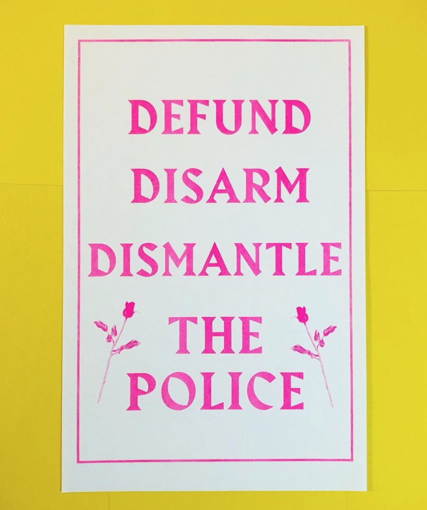 Defund Disarm Dismantle The Police Risograph Poster Gravewine Risograph Poster Risograph Police Art