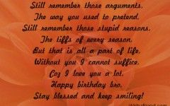 Happy Birthday Quotes For Brother Who Passed Away