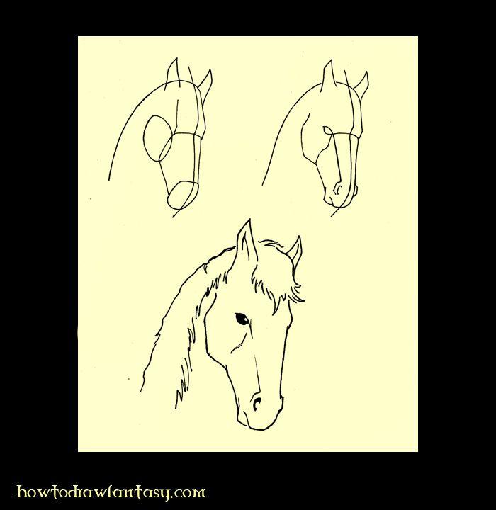 Apprendre a dessiner les chevaux art pinterest - Apprendre dessiner cheval ...