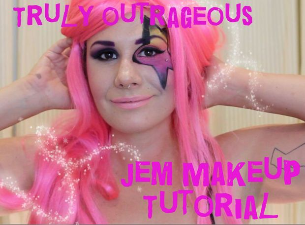 Truly outrageous jem makeup makeup and halloween makeup picture of truly outrageous jem makeup i wanted to be jem so badly when i ccuart Images