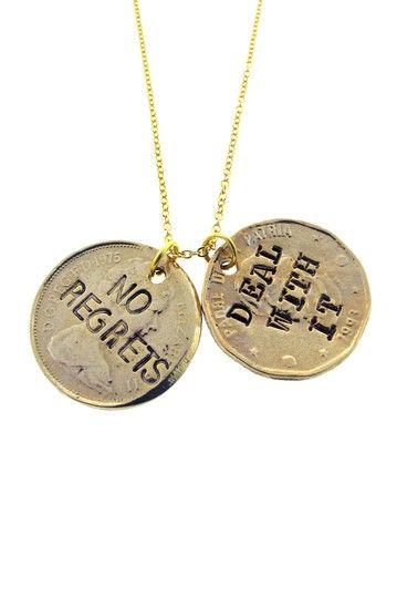 """""""No Regrets"""" Pendant Necklace on HauteLook"""
