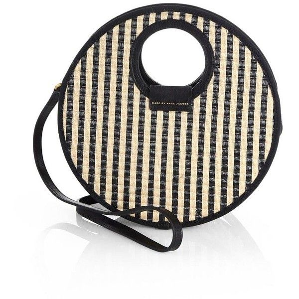 dc60a45a0d83 Marc by Marc Jacobs Striped Woven Circle Crossbody Bag ( 198) found on  Polyvore