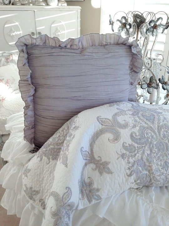 French Vintage Cottage Farmhouse Gray Matelasse Coverlet Shabby Chic Room Taupe Bedding Chic Bedding Sets