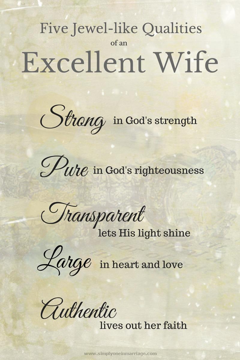 偉大な妻の資質