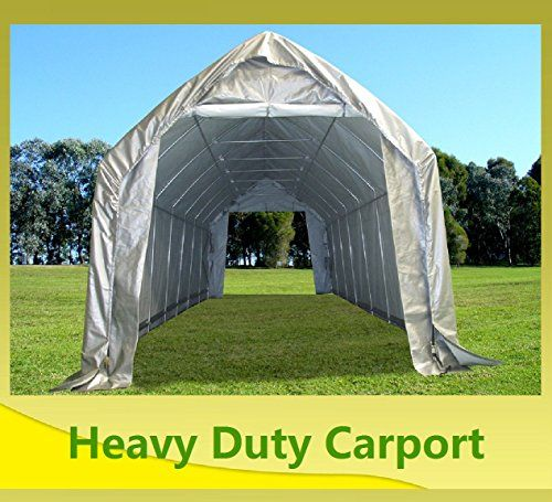 Carports - 28x12 Carport GreyWhite Garage Storage Canopy Shed Car Truck Boat Carport By DELTA Canopies & Carports - 28x12 Carport GreyWhite Garage Storage Canopy Shed Car ...