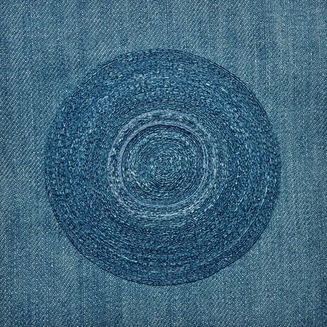 Summer cleaning sale on our etsy on now. 15% off a range of our embroideries. We've put up some older pieces like this one from 2011. Echo was created for the Denim group show held at Mr Kitly, made from denim harvested then seen back on #doubledenim