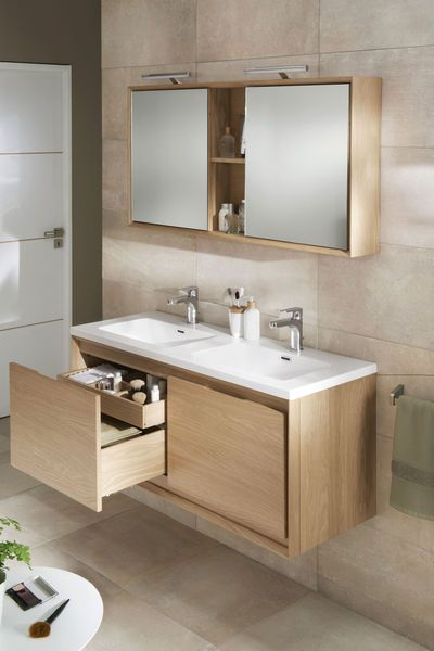 Beau Would Love To Have This Vanity And Matching Mirror Set In My Bathroom,  Clean Looking..simple And Organized.