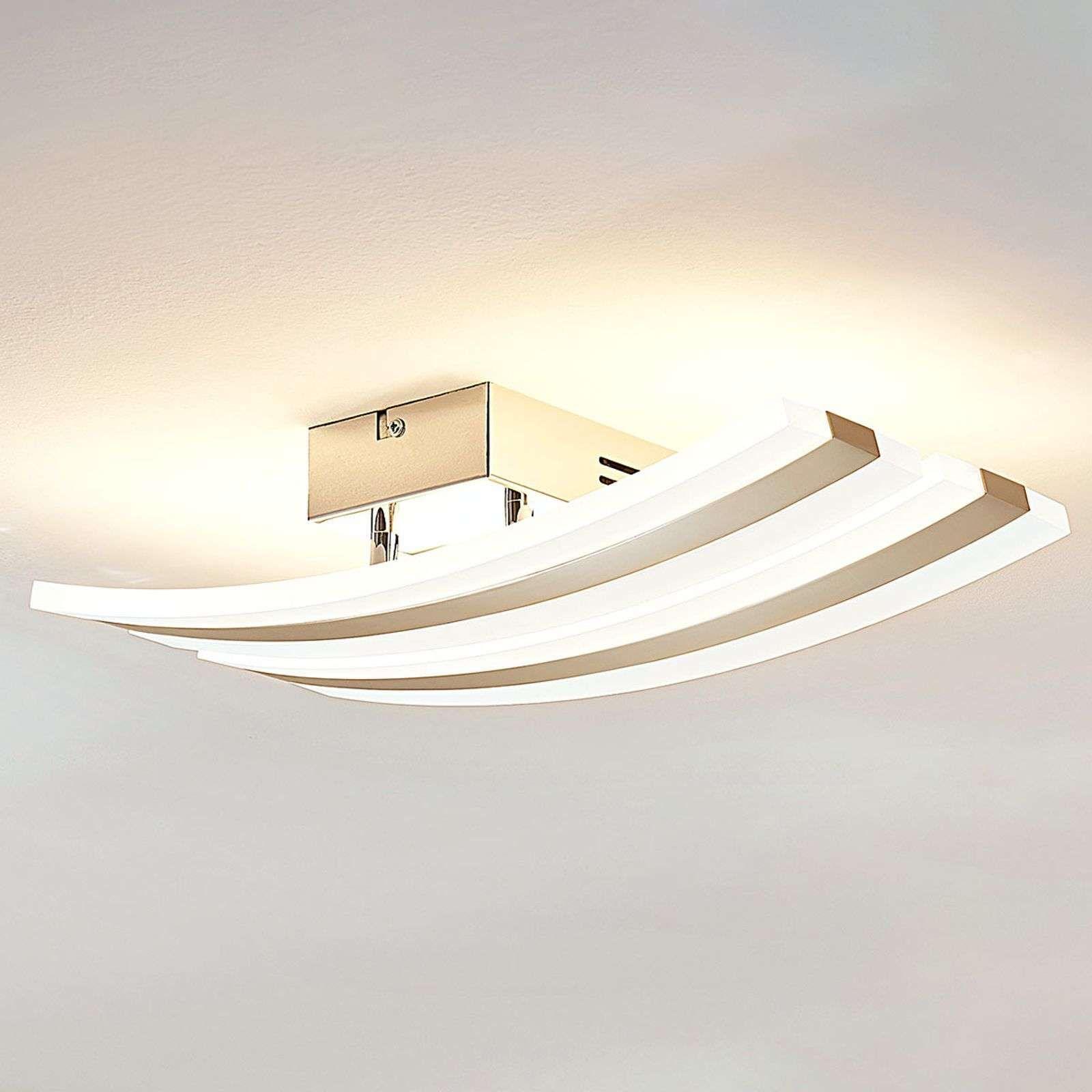 Plafonnier Led Dimmable Duarte 2 Lampes De Lampenwelt Com Plafonnier Led Eclairage Chambre Plafonnier