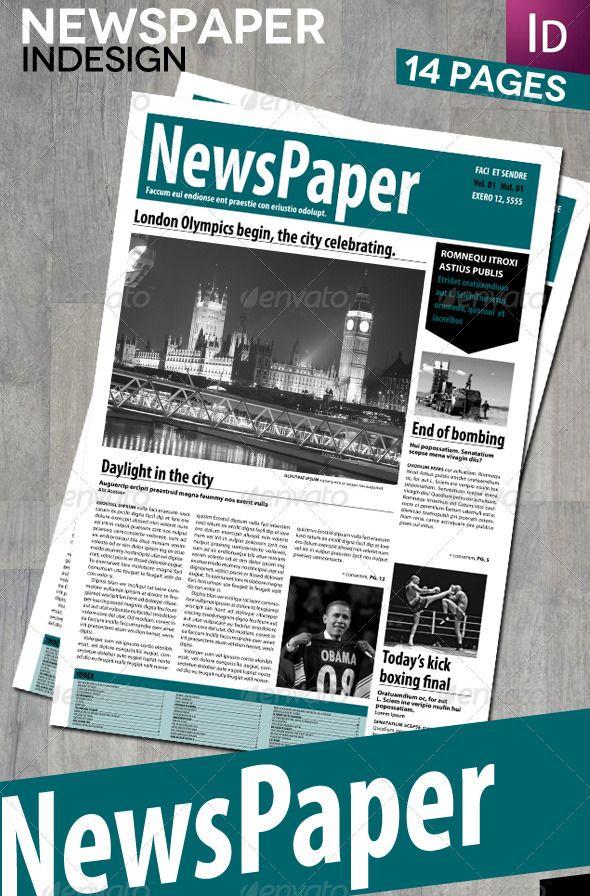 Indesign Newspaper Template Costumepartyrun
