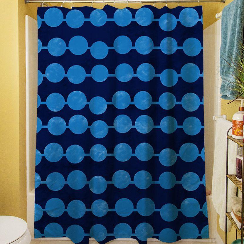 Line Dots Shower Curtain
