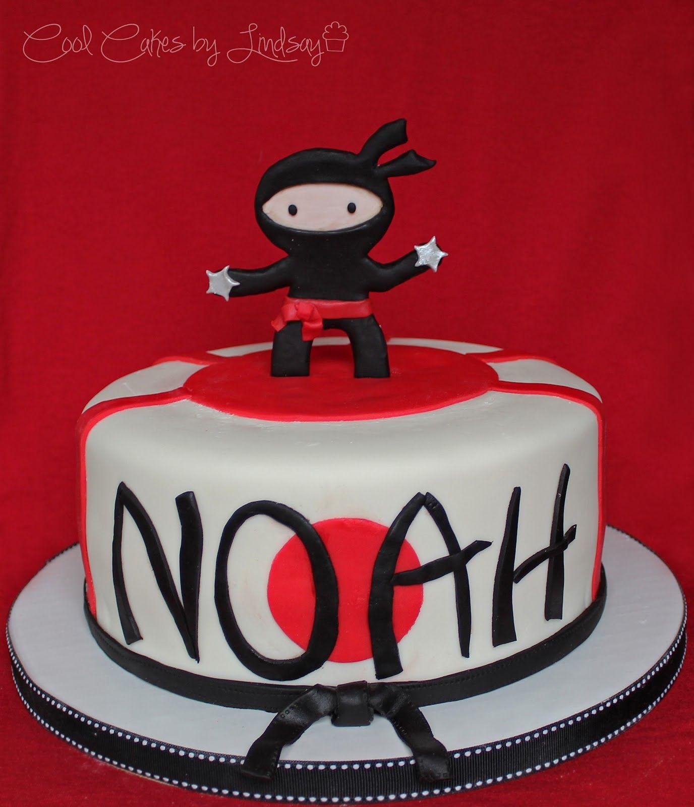 Miraculous Another Ninja Cake Idea Cute Ninja Birthday Cake Birthday Cards Printable Inklcafe Filternl