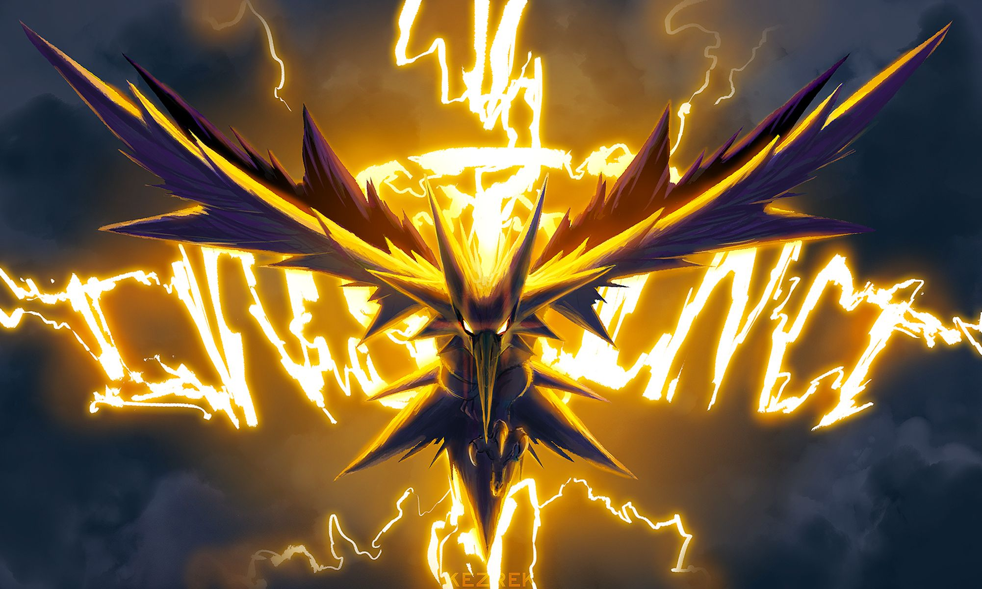 Video Game Pokemon Go Team Instinct Zapdos Pokemon Papel De