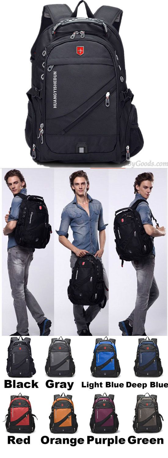1fc36995c680 Strong Outdoor Nylon Oxford Bag Waterproof Black Large Multi-functional  Camping Travel Backpack for big sale!  camping  large  travel  Bag  Backpack    ...
