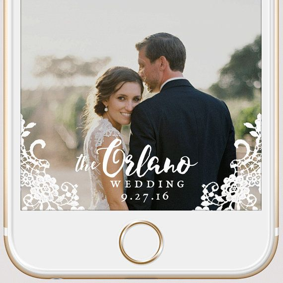 elegant lace wedding snapchat geofilter | custom script personalized ...