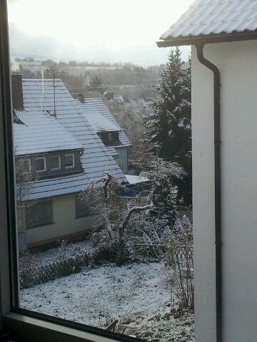 Erster Schnee in Weil der Stadt 22.11.2015