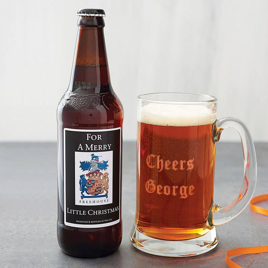 personalised real ale and engraved tankard by intervino | notonthehighstreet.com