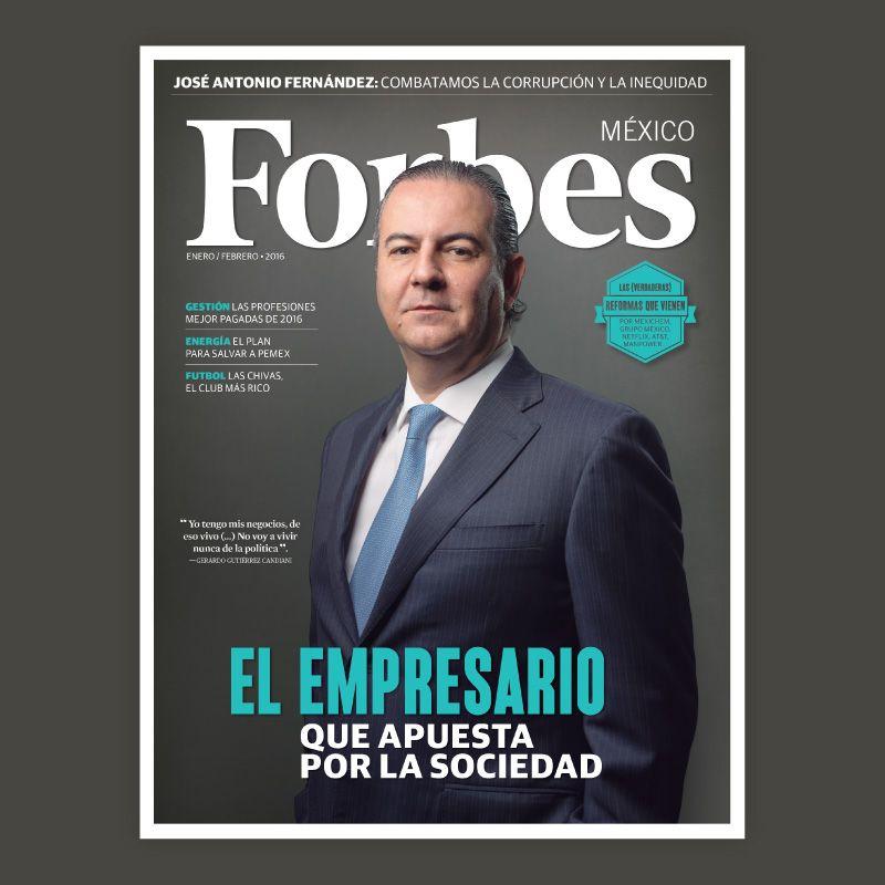 José Antonio Fernández: Combatamos la corrupción y la inequidad. En nuestro número de enero 2016.