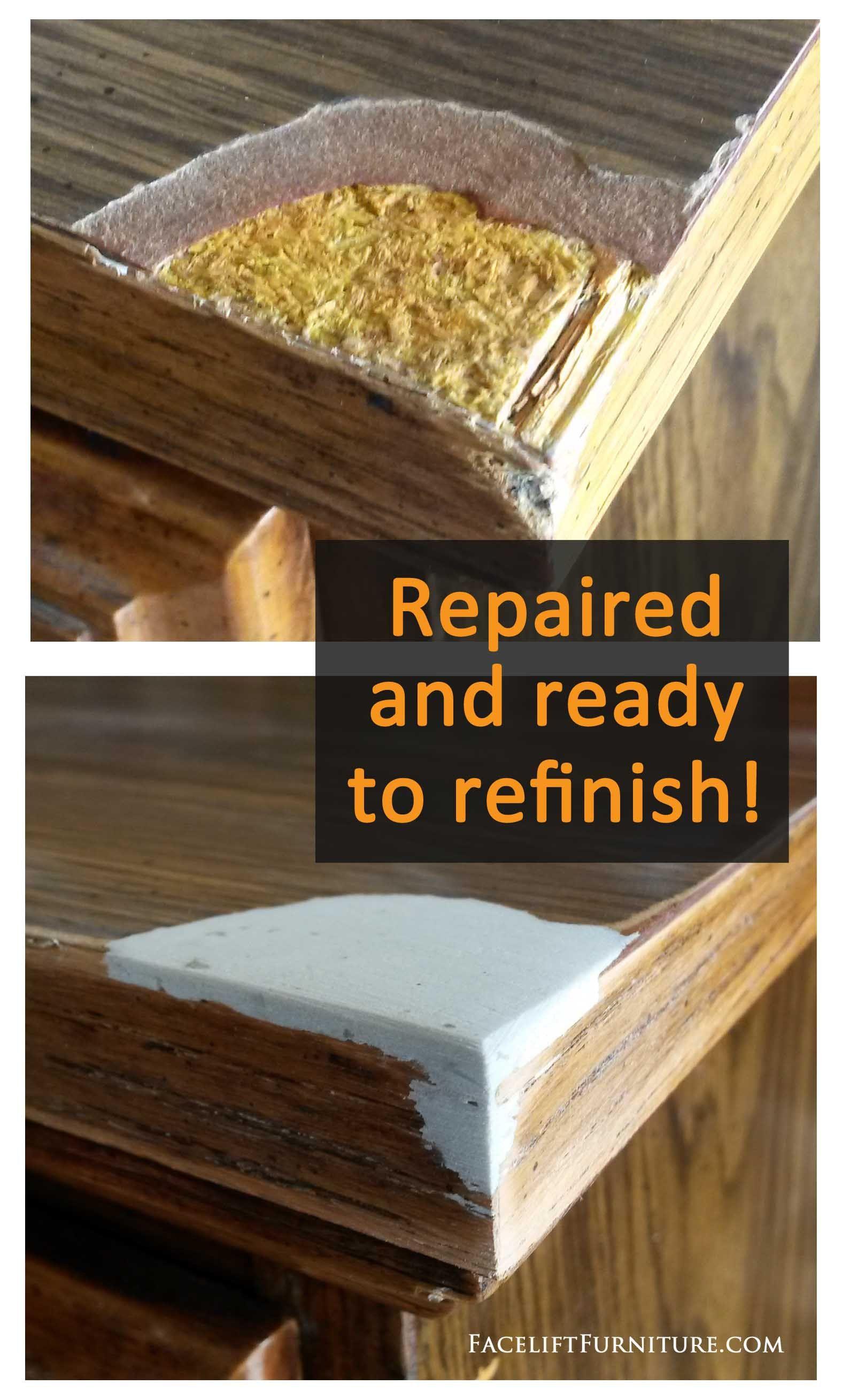 How To Repair Replace Missing Veneer Formica Or Wood On Furniture