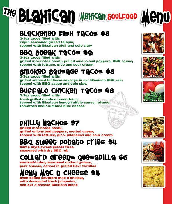 Blaxican Food Truck | Menu/Catering