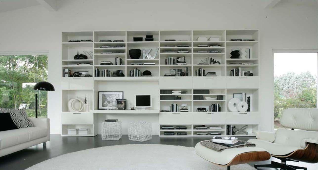 Soggiorno Sangiacomo ~ Logo wall unit with bookcase system by sangiacomo italy has