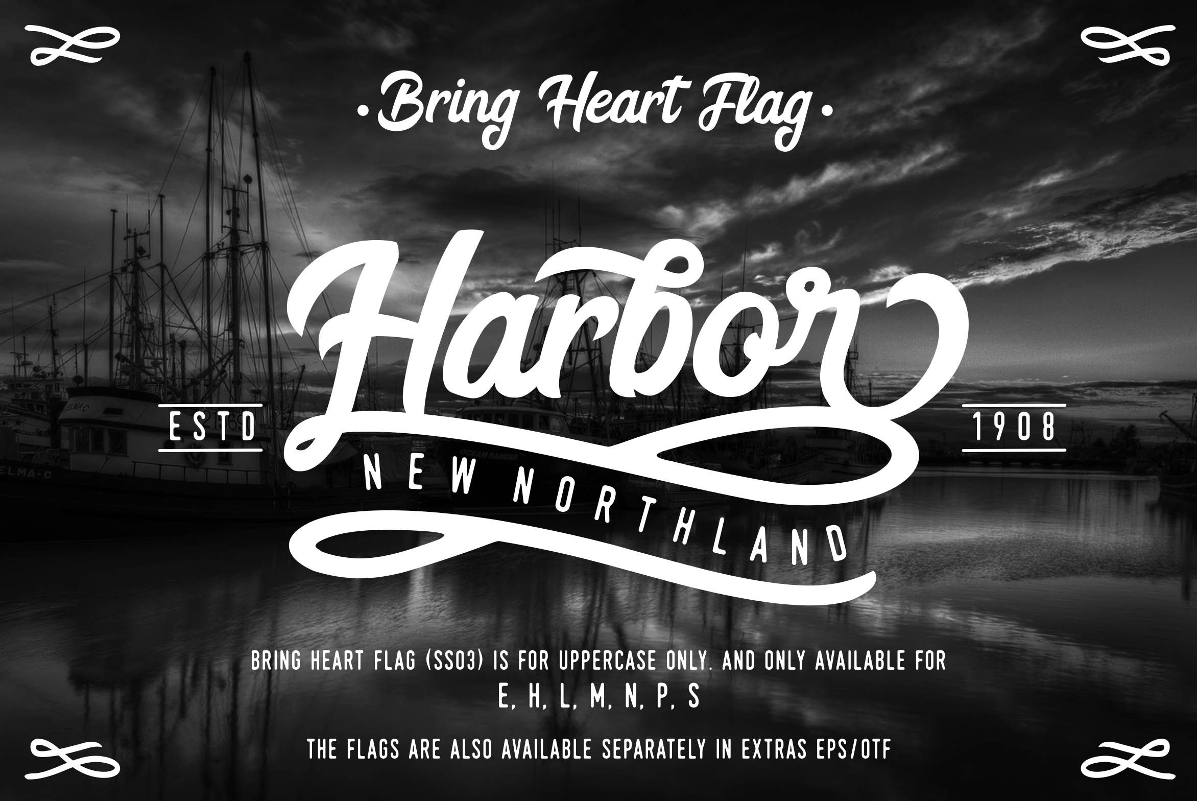 Download Bring Heart & Extras example 3 | Heart font, Font examples ...
