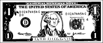 Printable Paper Dollar Bill To Color One Dollar Bill Dollar Bill Dollar