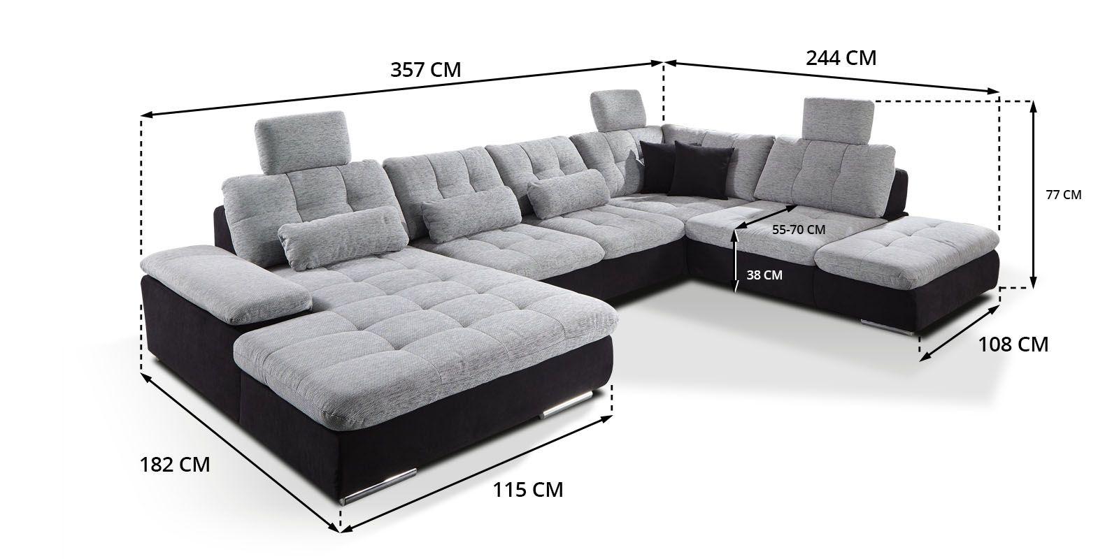 Skizze Wohnlandschaft Power Individuell Sofa In U Form