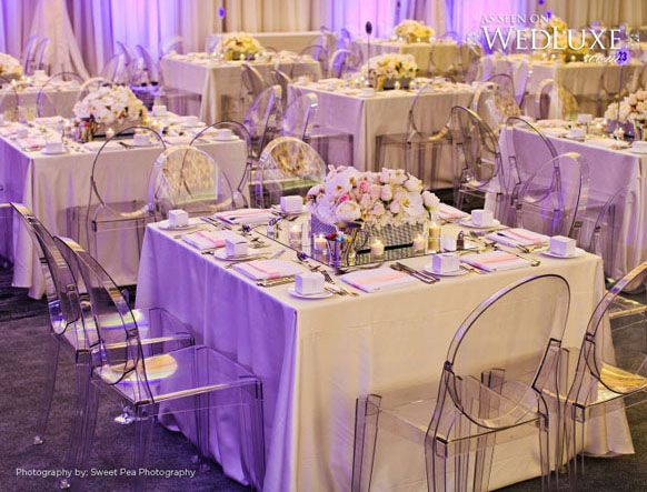2014 ivory champagne modern wedding reception decorations ideas