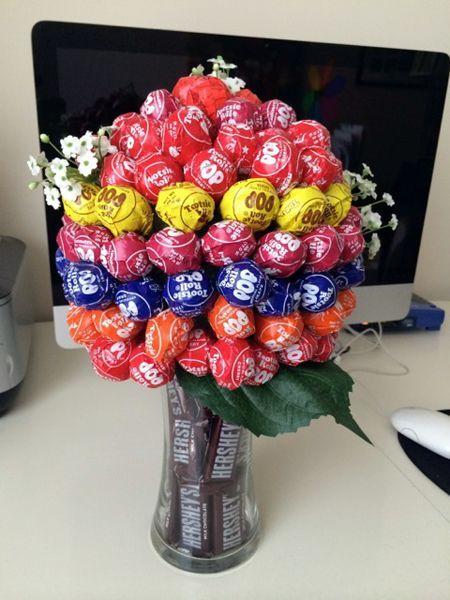 Tootsie Pop Bouquet Kl Candy Bouquet Diy Candy Crafts