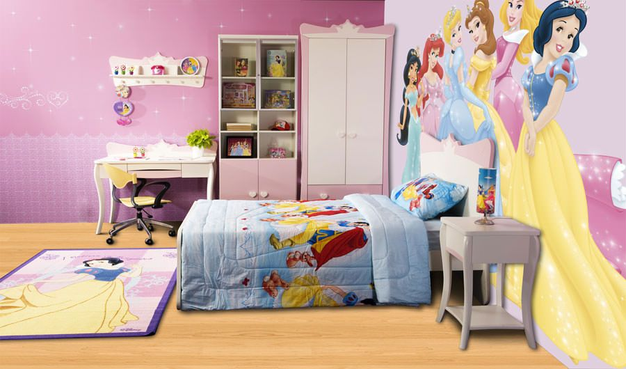 Cameretta Disney Principesse : Meravigliose camerette da principessa disney per bambine in