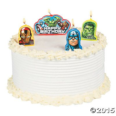 Marvel Avengers Birthday Candles Avengers Birthday party