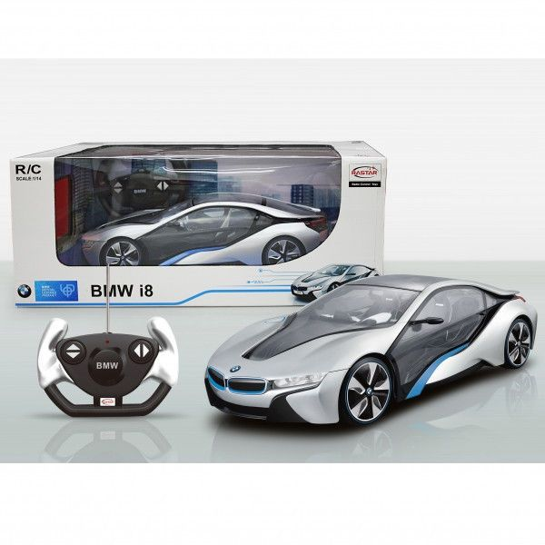 NEW RASTAR BMW I8 OFFICIAL LICENSED 1/14 REMOTE CONTROLLED CAR RTR SILVER