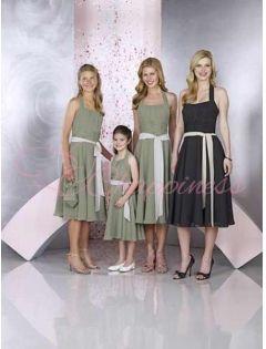 8b403ff513b0 Tea Length Sage Simple Junior Bridesmaid Dress Under 100   Bridal ...