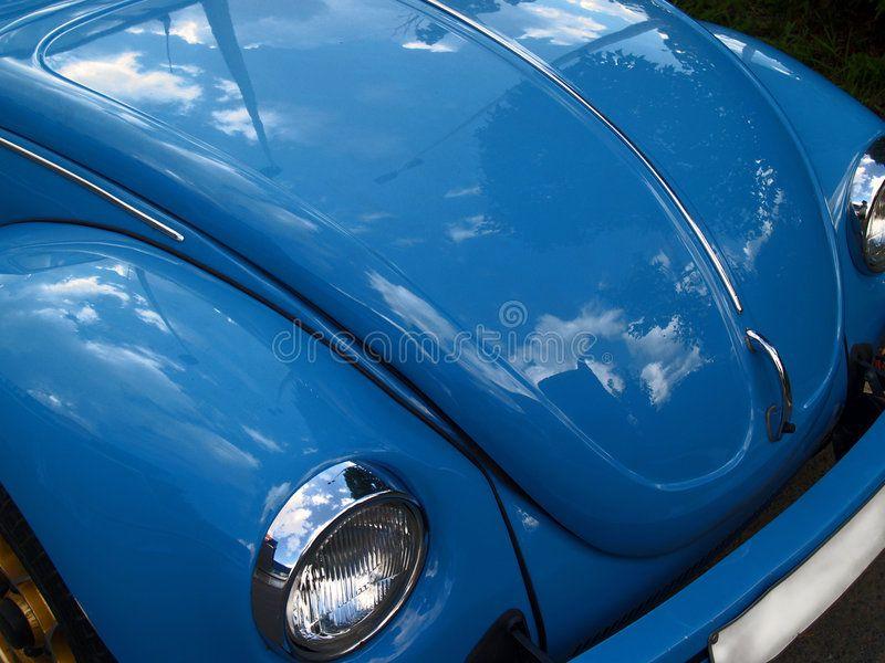 Blue classic car stock image. Image of blue, polish, aircooled – 1019397