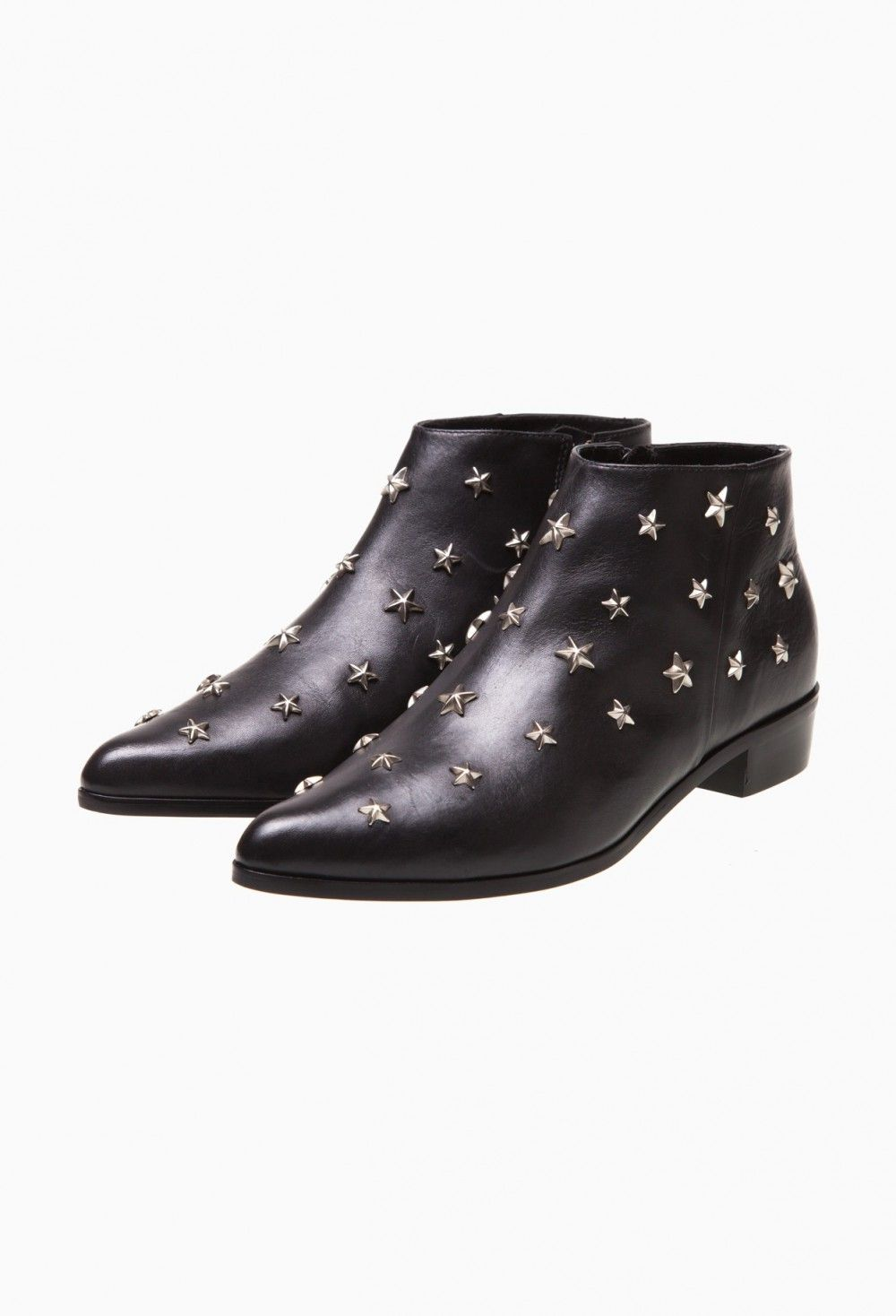 Claudie Pierlot Woman Studded Leather Ankle Boots Black Size 38 Claudie Pierlot Mxemn
