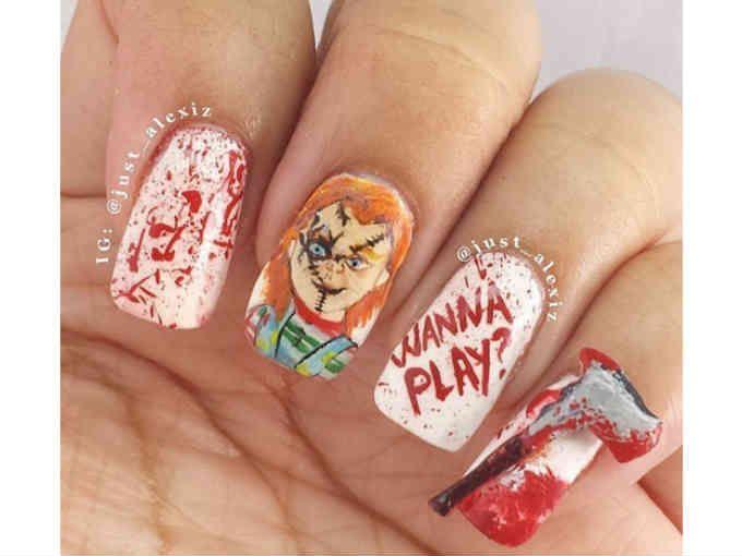 Halloween llegó a tus uñas!   Halloween, Diseños de uñas y Manicuras