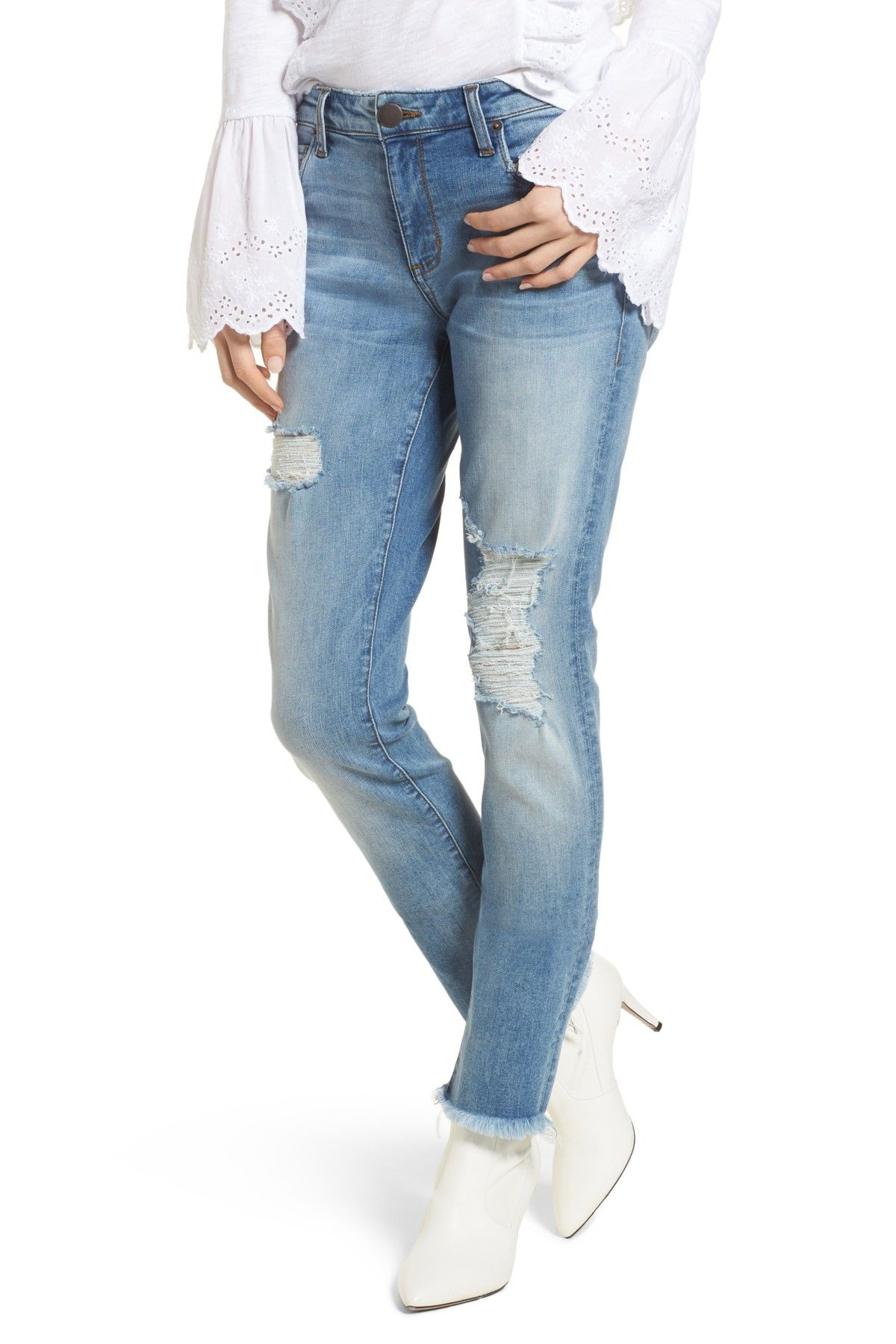 STS BLUE Taylor Distressed Tomboy Jeans Womens
